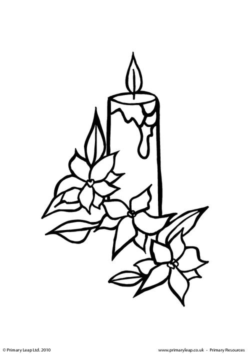 Colouring picture - Candle