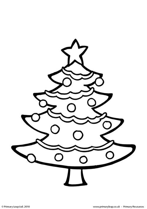 Colouring picture - Christmas tree