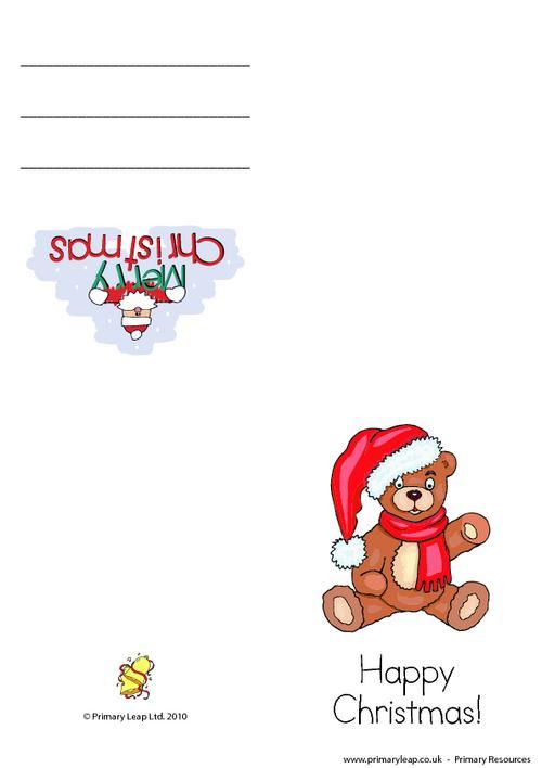 Christmas card -  Teddy bear