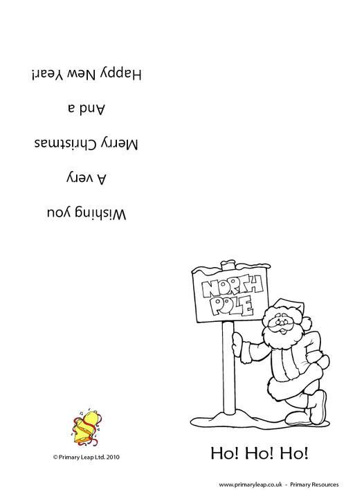 Christmas card -  Santa b&w 2