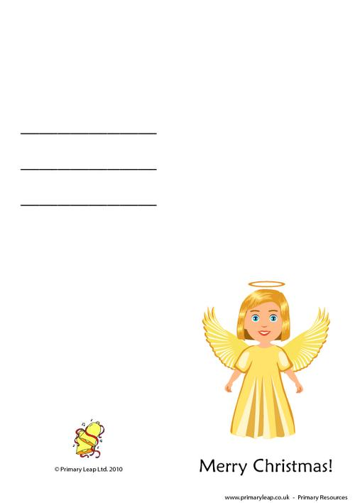 Christmas card - Angel with wings