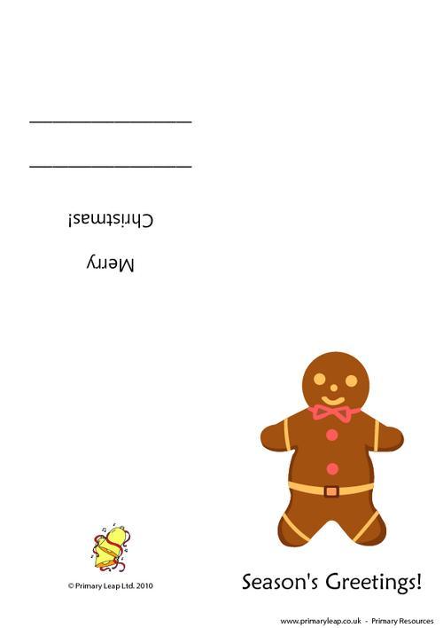 Christmas card - Gingerbread man
