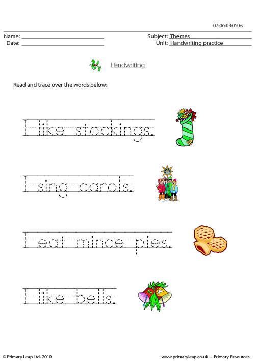 Christmas - handwriting 1