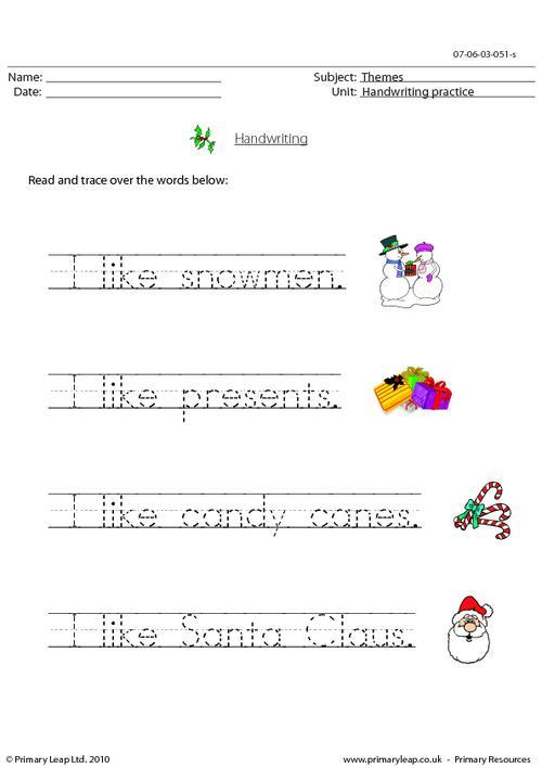 Christmas - handwriting 2
