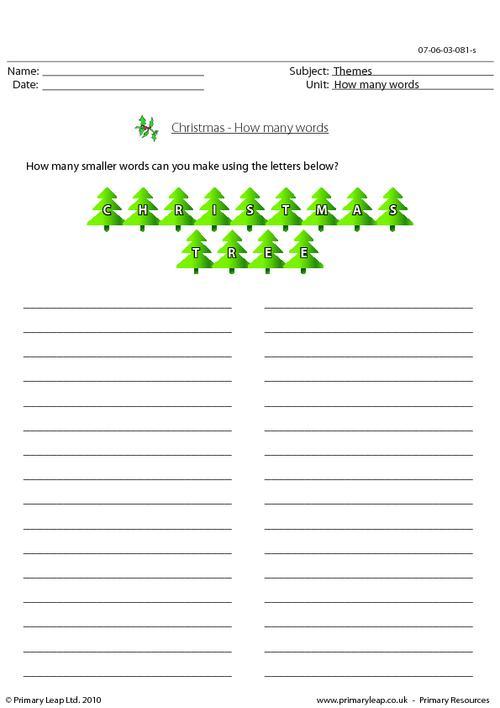 How many words - Christmas tree