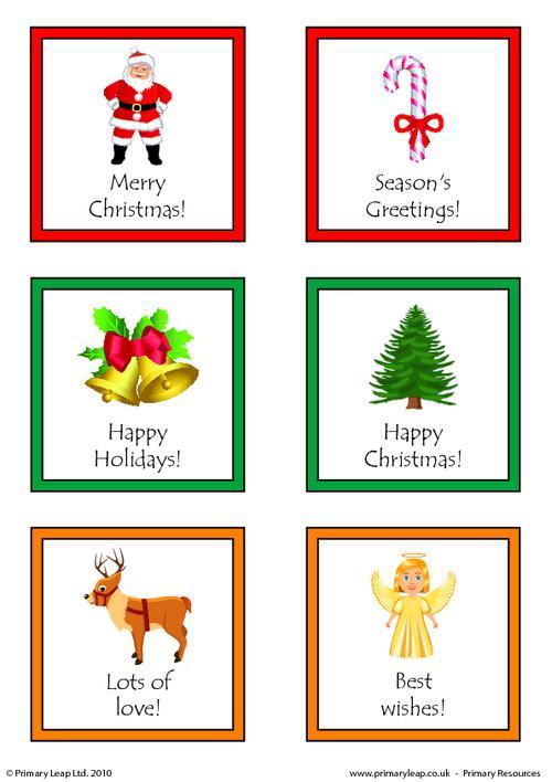 Christmas - Printable gift tags 1
