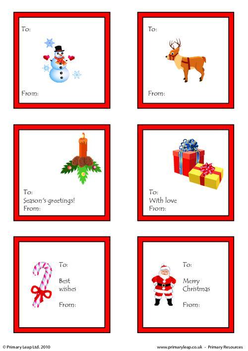 Christmas - Printable gift tags 2