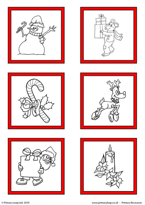 Christmas - Printable gift tags to colour 1