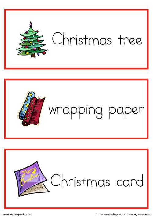 Christmas flashcard - set 1
