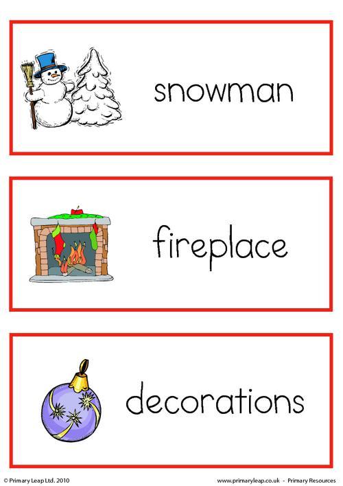 Christmas flashcard - set 2