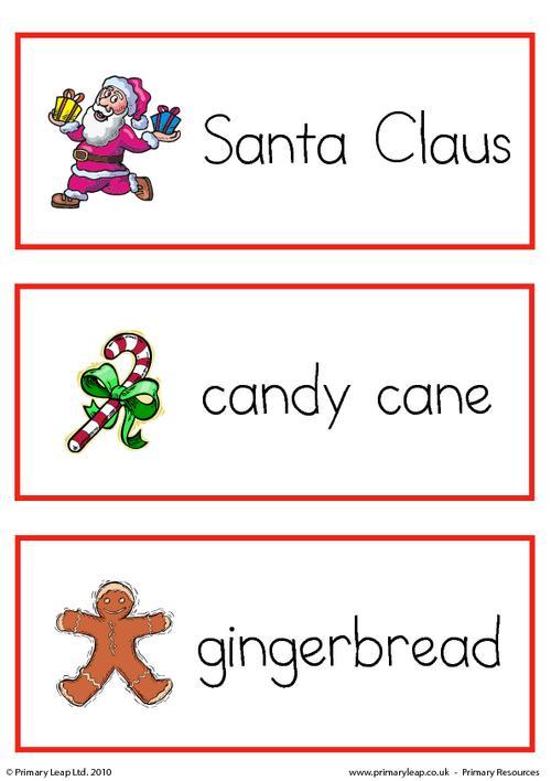 Christmas flashcard - set 4