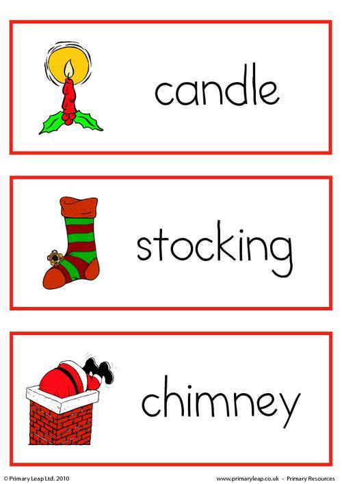 Christmas flashcard - set 5