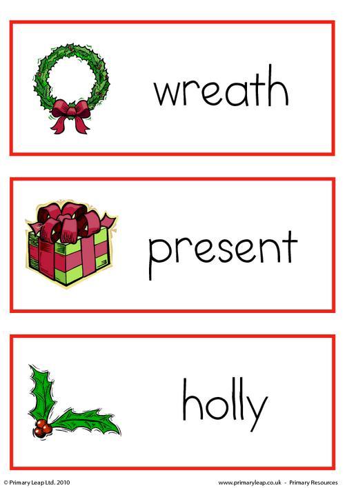Christmas flashcard - set 7