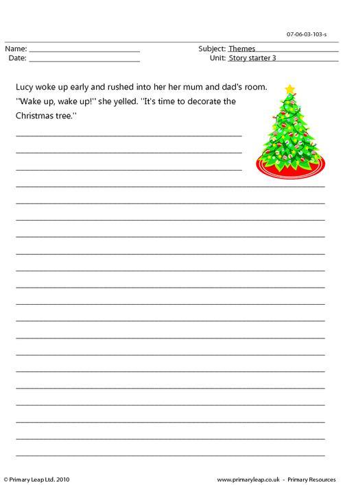 Christmas - story starter 3