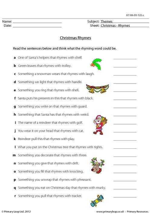 Christmas - Rhymes