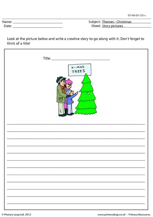 Christmas story picture - Choosing a Christmas tree