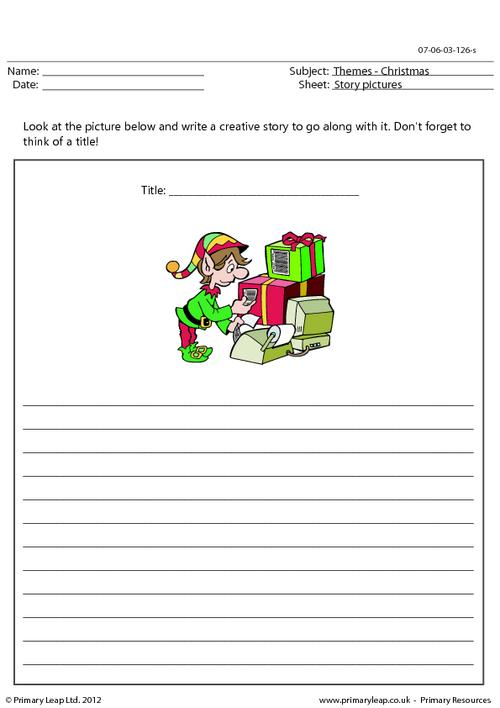 Christmas story picture - Santa's little helper