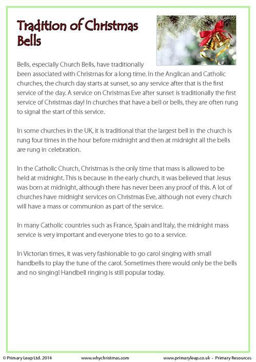 Fact Sheet - Traditions of Christmas Bells