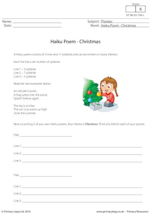 Haiku Poem - Christmas