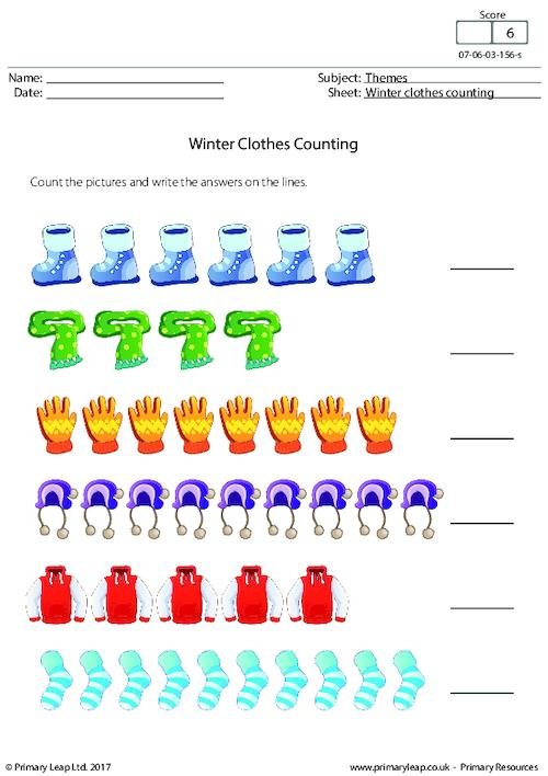 Winter Clothes Counting