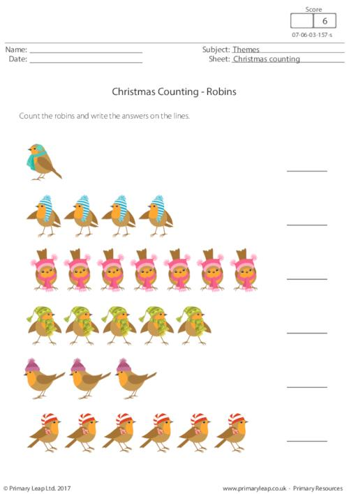 Christmas Counting - Robins