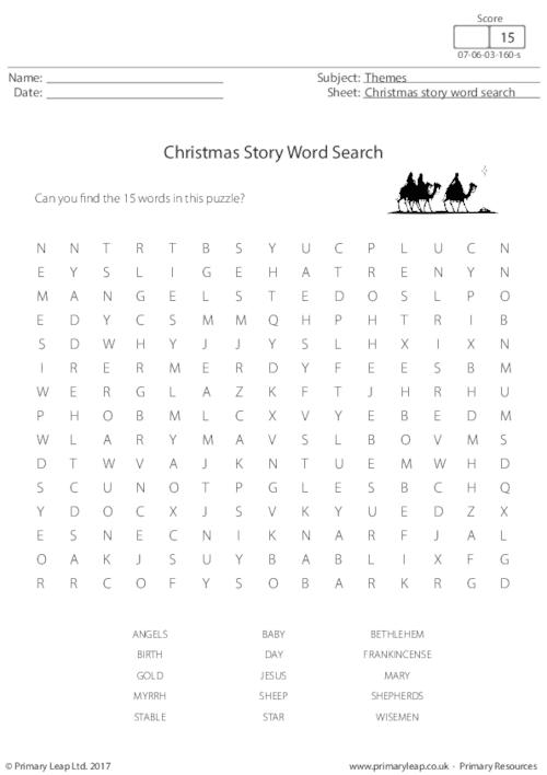 Christmas Story Word Search