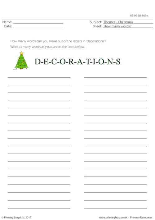 Decorations - How Many Words?