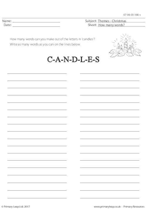 Candles- How Many Words?