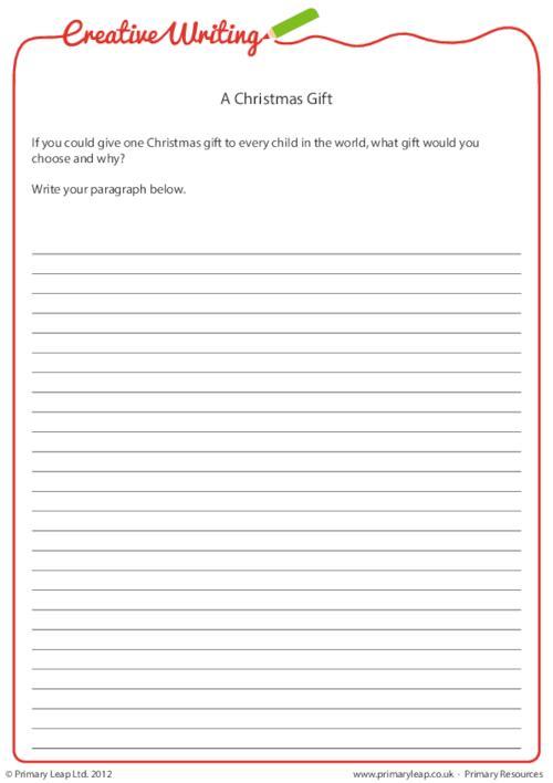 Creative Writing - A Christmas Gift
