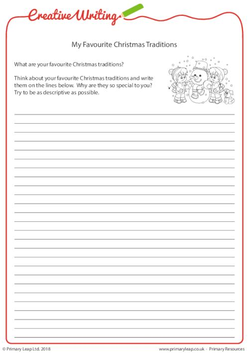 Creative Writing - My Favourite Christmas Traditions