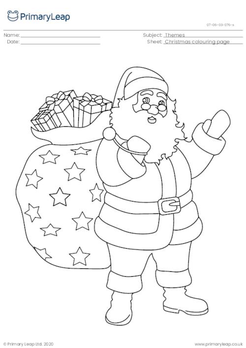 Christmas colouring page - Santa Claus