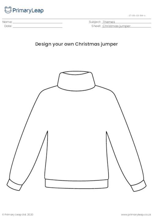 Christmas jumper template