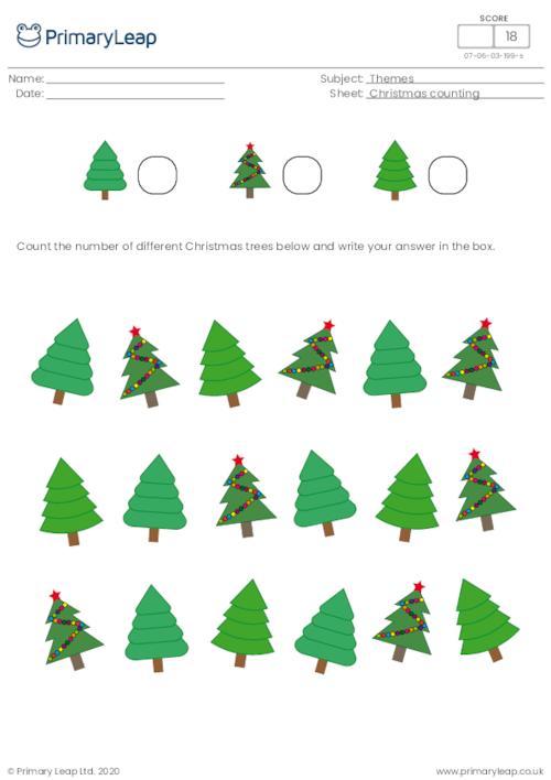 Christmas counting - How many Christmas trees?