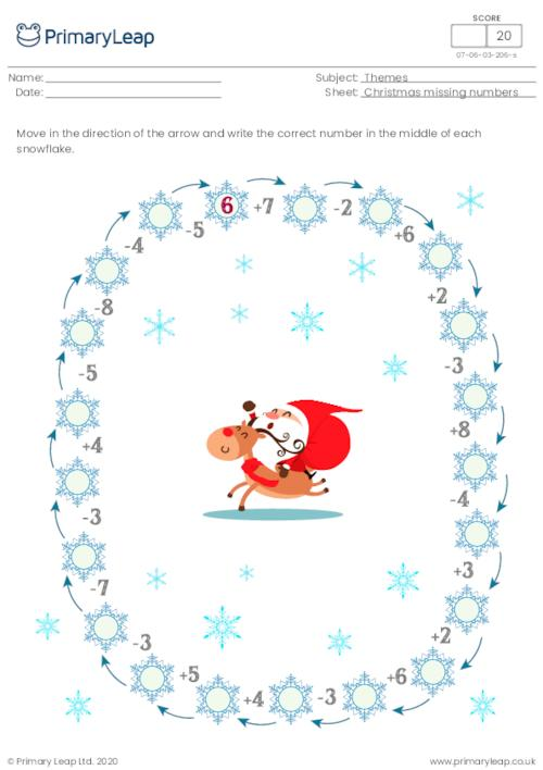 Christmas missing numbers 3