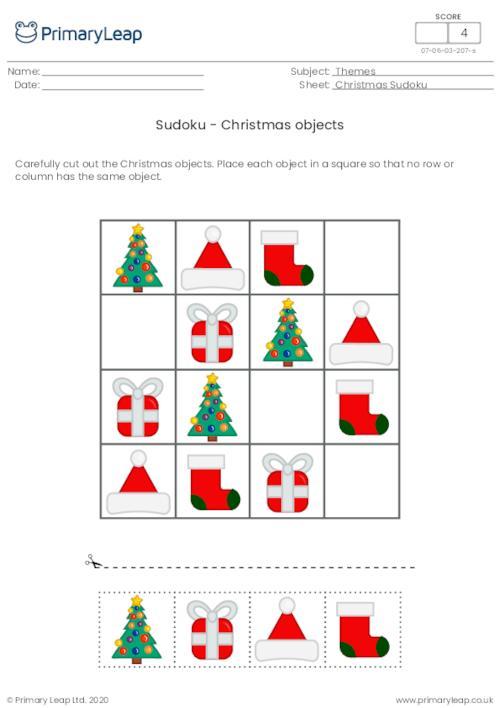 Sudoku - Christmas objects