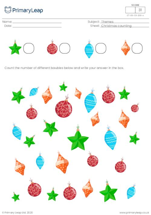 Christmas counting - How many baubles?