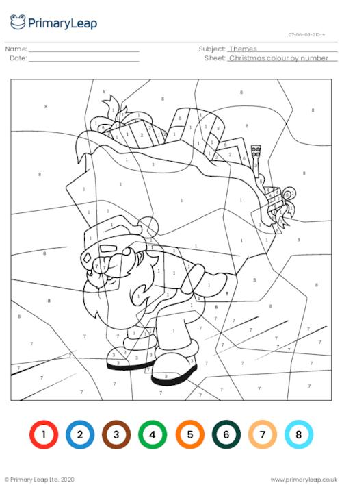 Colour by number - Santa Claus