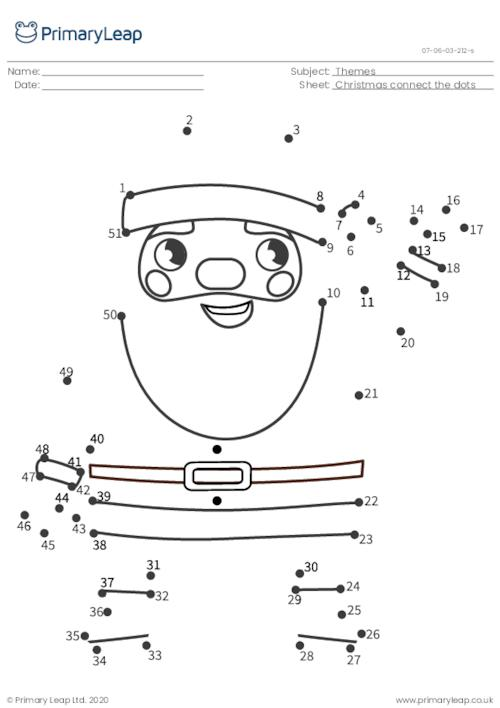 Connect the dots (1-51) - Santa Claus