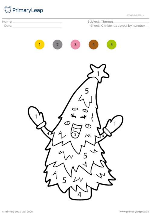 Colour by number - Christmas tree