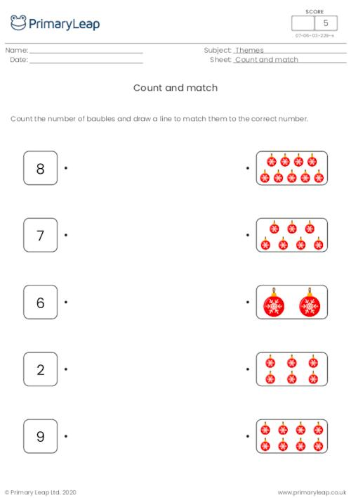 Count and match - Baubles