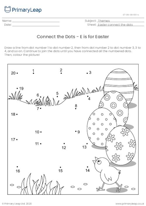 Connect the Dots - E is for Easter
