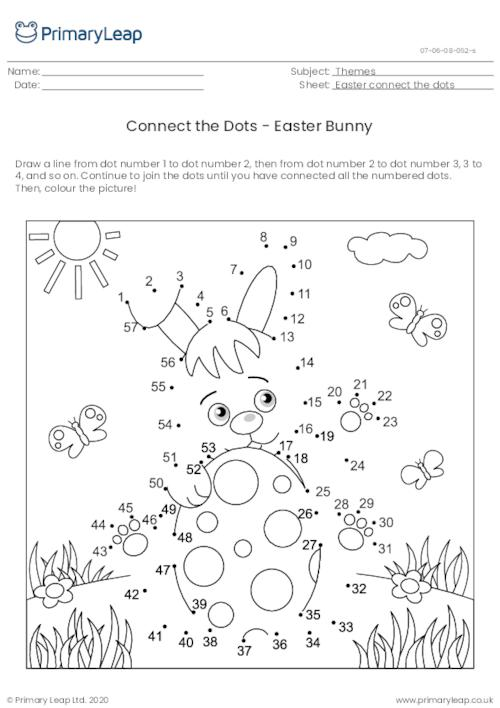 Connect the Dots - Easter Bunny