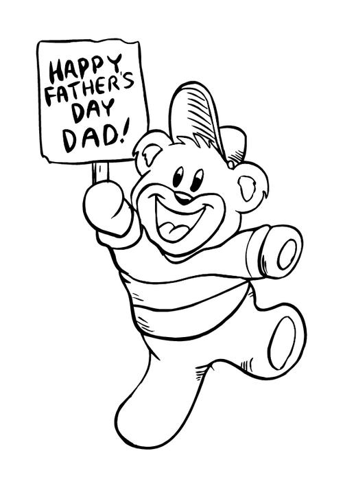 Father's day - Colouring page 1
