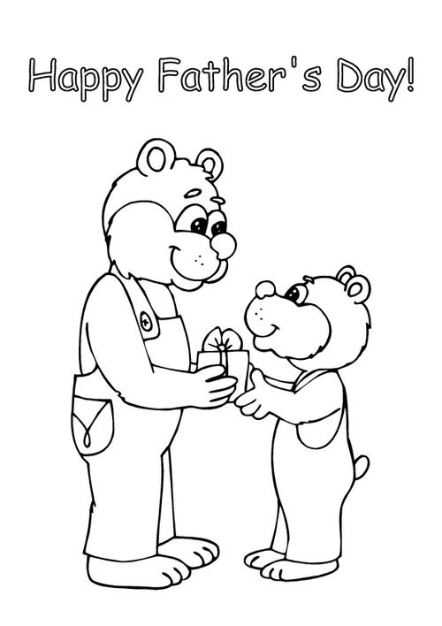 Father's day - Colouring page 2