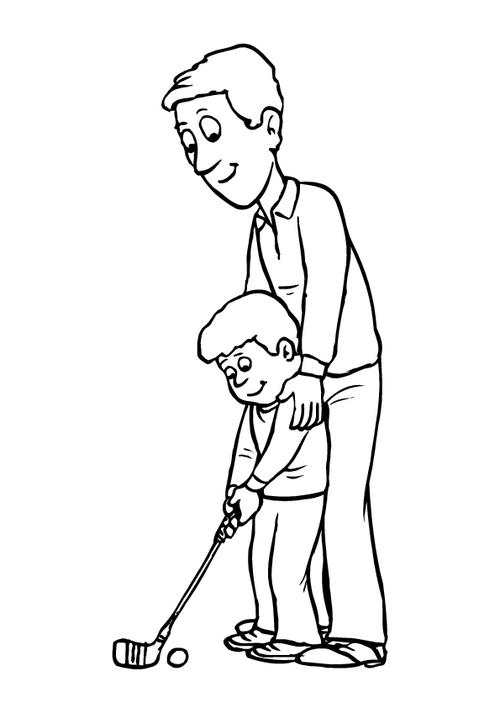 Father's day - Colouring page 3