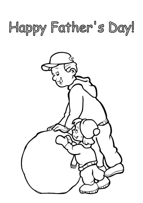 Father's day - Colouring page 7