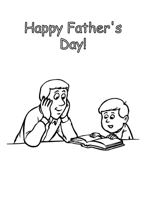 Father's day - Colouring page 9