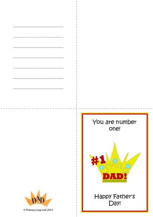 Father's day - Greetings card 1