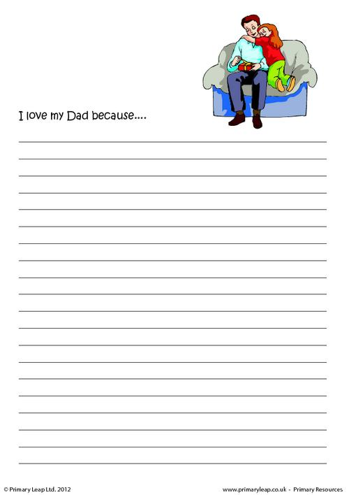 Father's day - I love my Dad because...