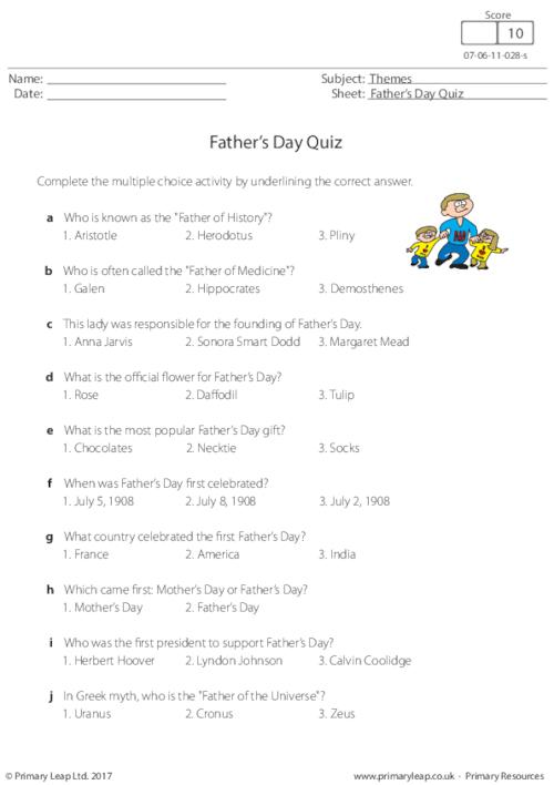Father's Day - Quiz